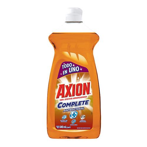 Lavatrastes Axion Antibacterial Complete líquido en botella 640mL