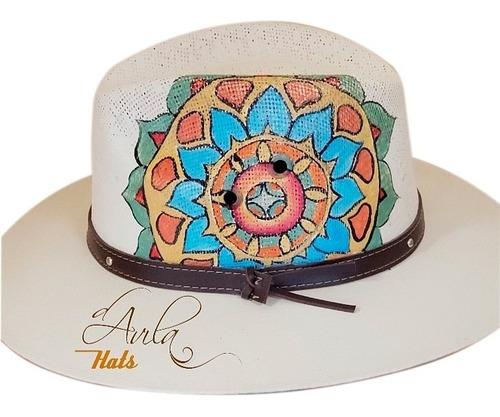 Imagen 1 de 1 de Sombrero D'avila Pintado A Mano