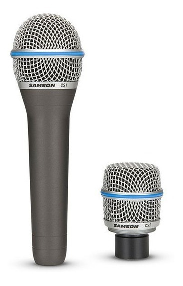 Microfone Com Fio 2 Cápsulas Csmic Samson