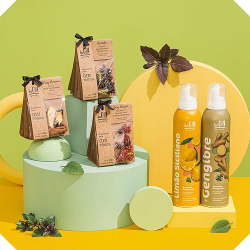 3 Kits De Especiarias Gin Tônica + Espumas Limão E Gengibre