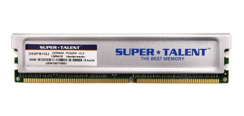 Memoria Ram 1gb Super Talent Ddr400 64x8 Cl3 16ch (pc And Mac G5) D32pb1gj