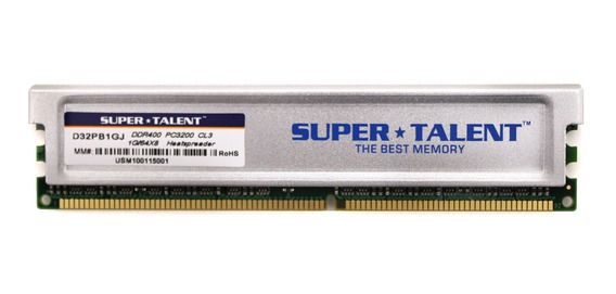 Memoria Ram 1gb Super Talent Ddr400 64x8 Cl3 16ch (pc And Mac G5) D32pb1gj