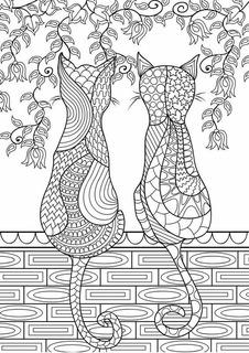 Dibujo Mandala Gatos Para Imprimir Y Colorear