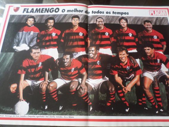 Poster Flamengo Melhor Time De Todos Os Tempos Placar