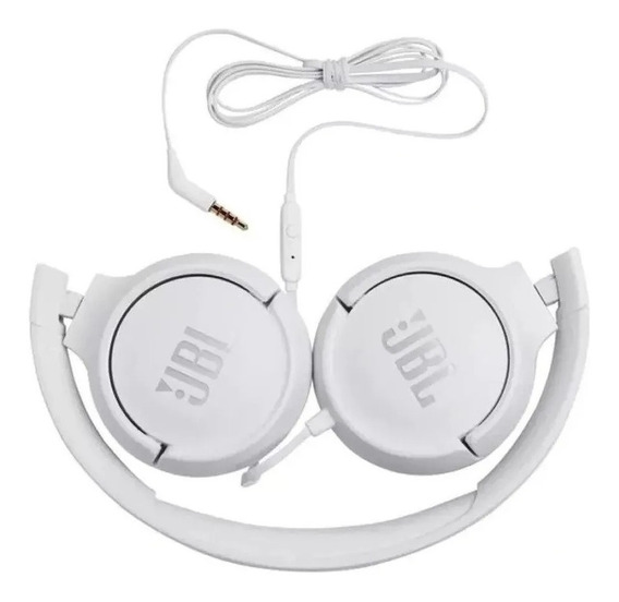 Fone De Ouvido Jbl Com Microfone Branco - T500wht