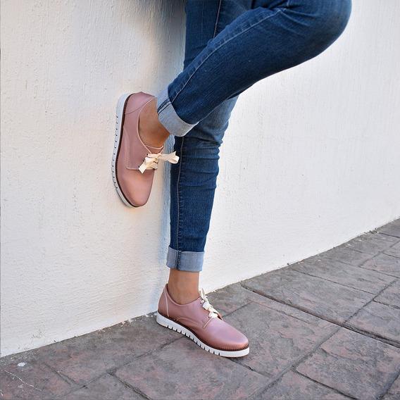 Zapatos Con Cordones Rosa Y Negro 260 Mona Shoes