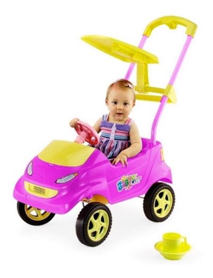 Carrinho De Passeio Baby Car Rosa Menina - Homeplay