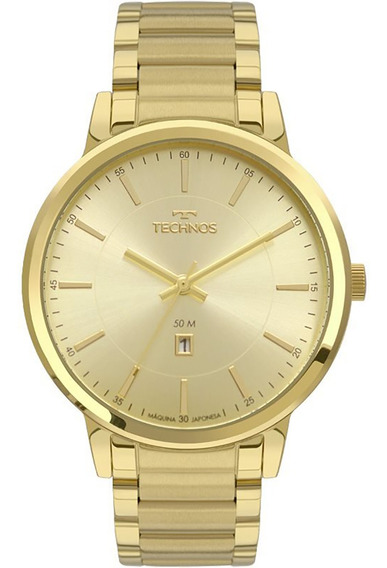Relógio Technos Dourado Feminino Dress 2015cdm/4d