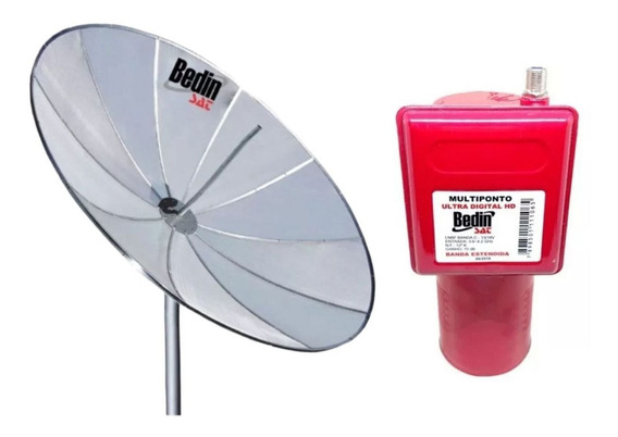 Antena Parabolica Tela 1,90 Metros Bedinsat Lnbf Multiponto
