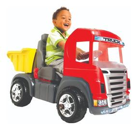 Carro Infantil Caminhão Truck Pedal C/sons E Luzes 9300