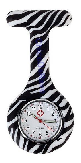 Relógio De Bolso Lapela Jaleco Zebrinha Médico Enfermagem