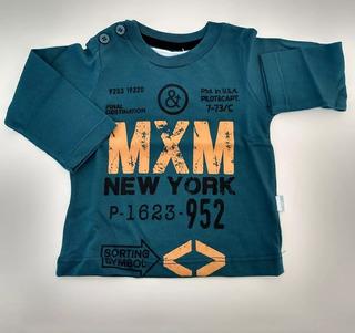 Remera Bebe Recién Nacido Manga Larga Camiseta Algodon Varon