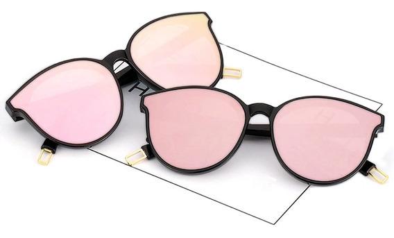 Gafas Cateye Espejo Negro-rosa - Polarizadas - Accesorios