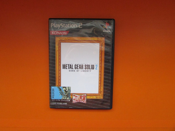Metal Gear Solid 2 Original Jap Para Playstation 2