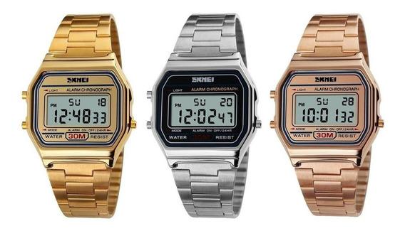 Kit 3 Relógios Vintage Retrô Dourado, Prata E Rosê Promoção