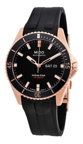 Relogio Mido M0264303705100 Ocean Star Captain Rose Gold