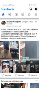 Celular iPhone 8 Pantalla Astillada Libre + Accesorios