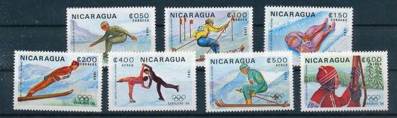 Nicaragua Juegos Olimpicos 1984 Sarajevo Serie Completa Mint