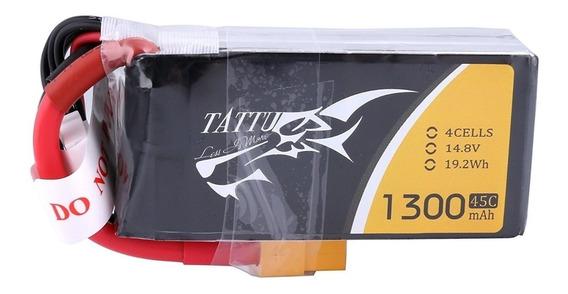 Tattu 1300mah 4s 45c 14.8v Lipo Battery Pack With Xt60 Plug