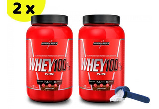 Kit 2x Whey 100% Pure Integralmedica 907g + 907g