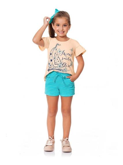 Roupa Infantil Menina 3 Conjuntos + 2 Vestidos - Tamanhos 12, 14 Ou 16