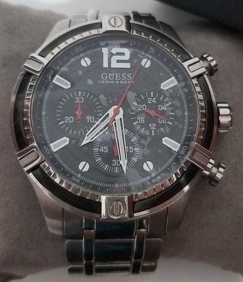 Relógio Masculino Guess Em Aço Original Com Garantia