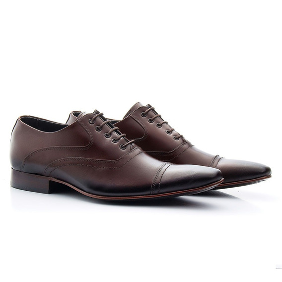 Sapato Clássico De Amarrar Solado De Couro 341