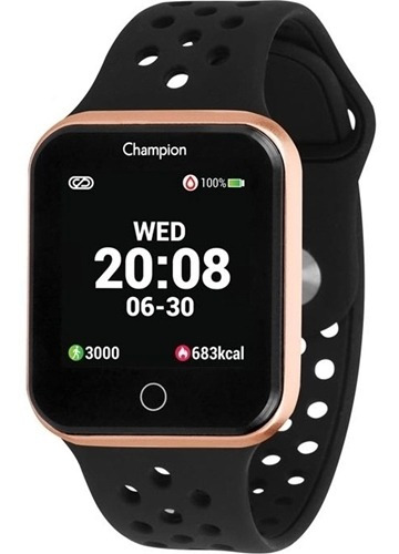 Relogio Smart Watch Champion Unissex Ch50006z Rose/ Preto