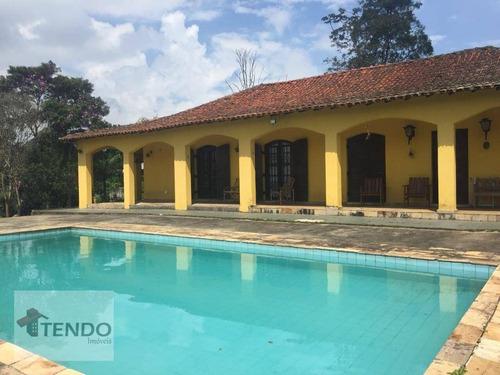 Chácara Com 3 Dormitórios À Venda, 8047 M² Por R$ 795.000,00 - Somma - Ribeirão Pires/sp - Ch0052