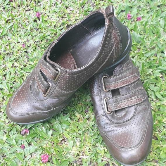 Zapatos Cuero Vacuno N36 Tipo Zapatillas