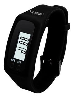 Relógio Pedômetro Digital Conta Passos Calorias Liveup Preto