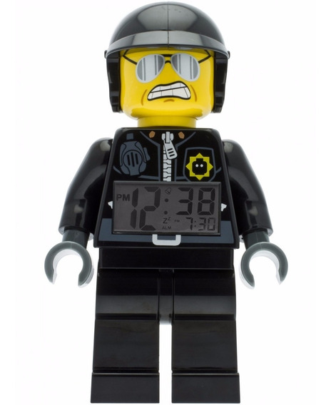 The Lego Movie Bad Cop Reloj Despertador Con Luz Diego Vez