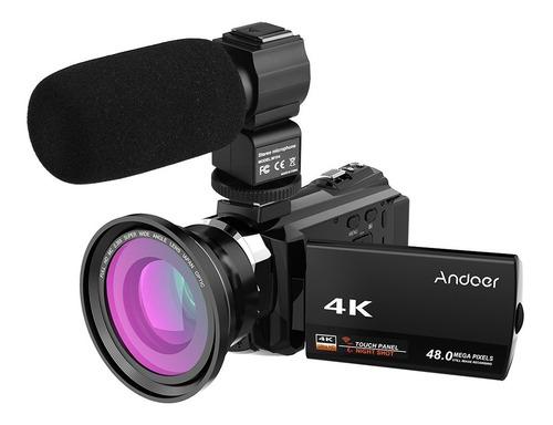 Videocámara Con Cámara De Video Digital Andoer 4k 1080p 48mp
