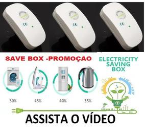 3 Aparelho Economizador Energia Elétrica 25% A 50% Saver Box