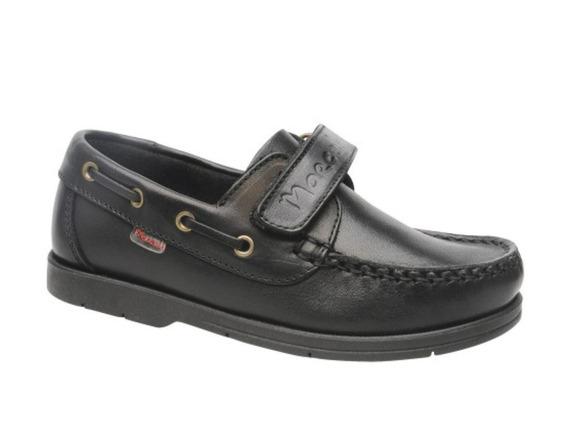 Zapatos Naúticos Marcel Abrojo Cuero Negros 34/41 Cosidos
