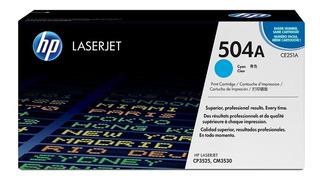 Toner Cartucho Hp Laserjet Ce251a Cyan 504a Hp