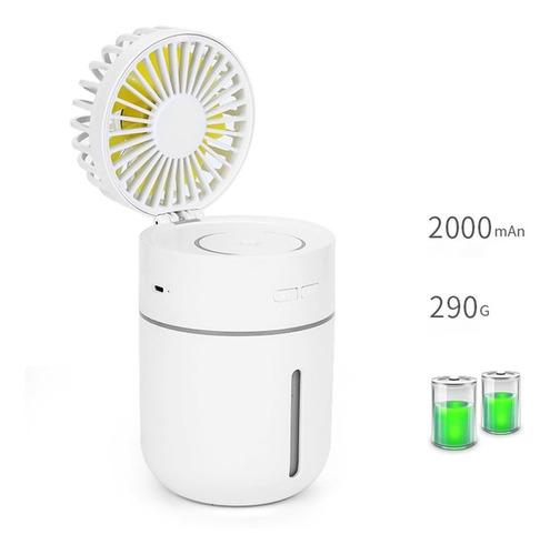Longspeed Humidificador de Carga Spray Funcional Doble Mini Ventilador port/átil port/átil