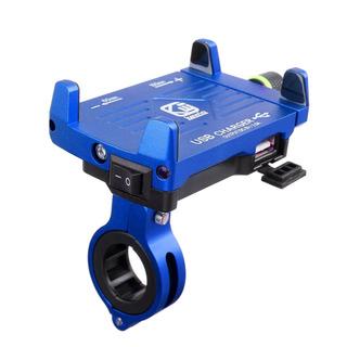 Suporte De Celular Gps Para Moto Com Carregador Usb Alumínio