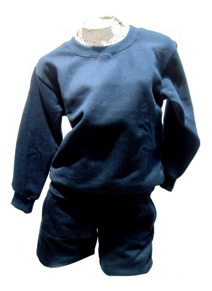 Conjunto Jogging Colegial Friza C/ Buzo Escolar Azul T4 A 18