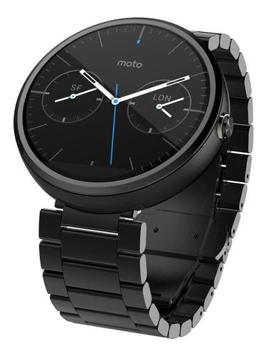 Motorola Moto 360 Smartwatch 46mm Metal Black Negro 23mm