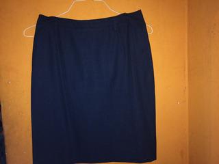 Falda Azul Para Uniforme Militar 3a O Gala Aviación.talla 12
