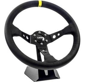 Volante Esportivo Lotse Dakar Couro Pret Cubo Opala Chevette