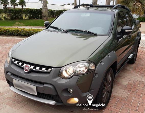 Fiat Strada Adventure 1.8 Cd Flex Dualogic 2016 Verde