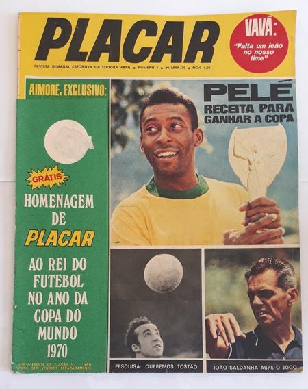 Revista Placar Ñ 1 - 20 De Março 1970 + Poster