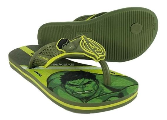 Chinelo Vingadores Hulk Ipanema Kids Frete Off 008897