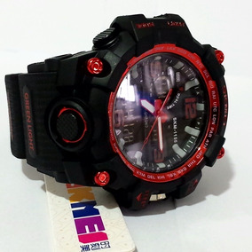 Relogio S-shock Digital E Analogico Sk Original 1155 Red