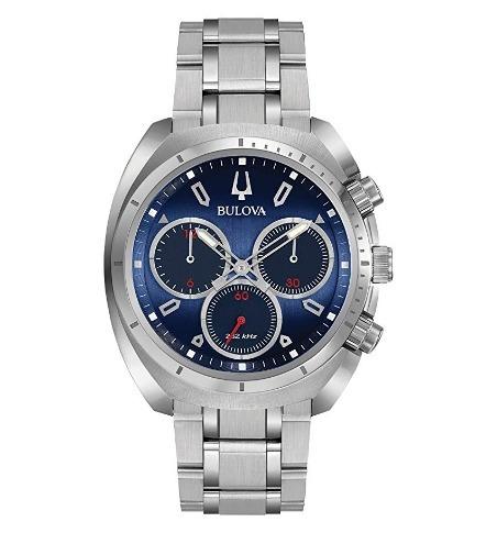 Relógio Bulova Masculino Curv Cronógrafo Azul Precisionist
