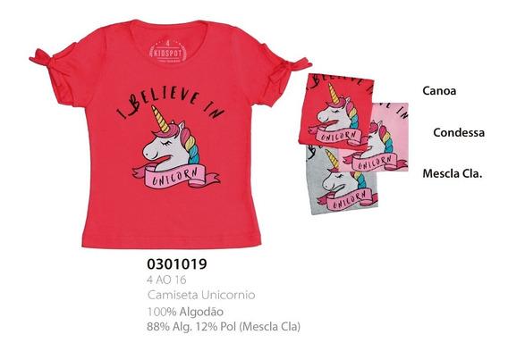 Lote 7 Camisetas Infantil Unicornio - Atacado - Qualidade A