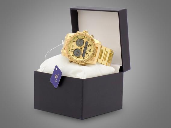 Relógio Masculino Orizom Original Analógico/digital + Caixa