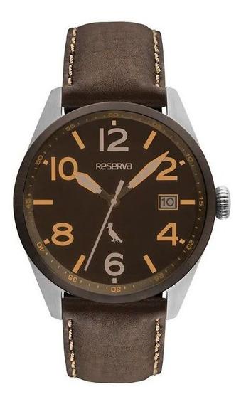 Relógio Reserva Couro Preto Re2415ab/2m